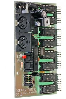 Doepfer MTC64 Main Board MIDI to Contact / Gate