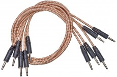 CablePuppy cable 15 cm (5 Pack) silver-brown
