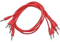 Black Market Modular Patch Cable 5-pack 100 cm red