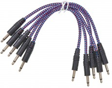 CablePuppy cable 15 cm (5 Pack) blue-white-red