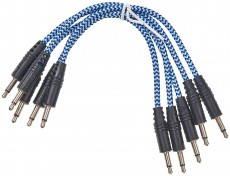 CablePuppy cable 45 cm (5 Pack) blau-weiß