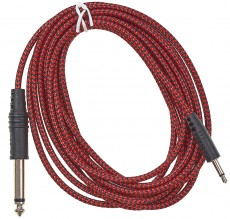 CablePuppy 100 cm adapter cable 3.5 -> 6,3mm red-black